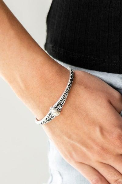 Make Your Own Path White Bracelet