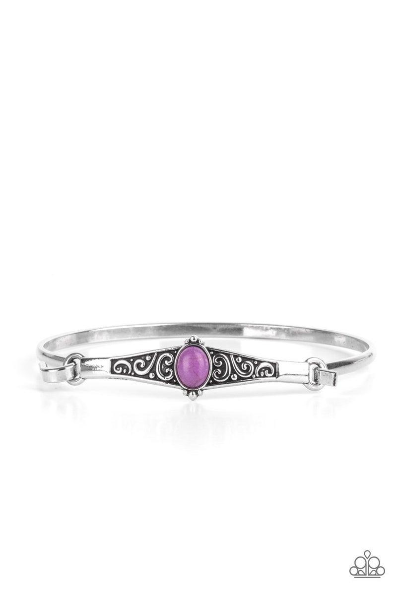 Stone Scrolls Purple Bracelet - PREORDER