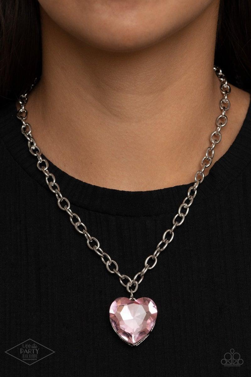 Flirtatiously Flashy Pink Necklace
