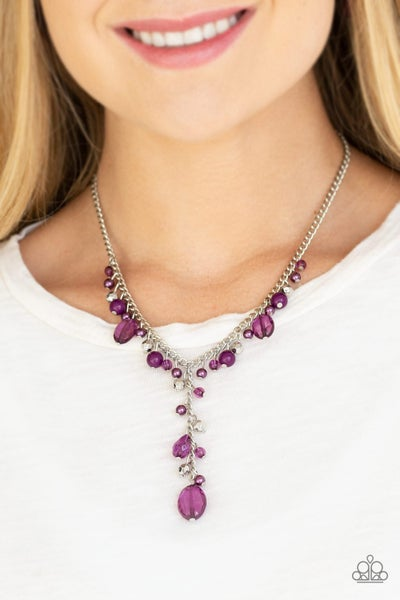Crystal Couture Purple Necklace