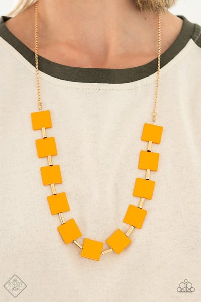 Hello, Material Girl Yellow Necklace