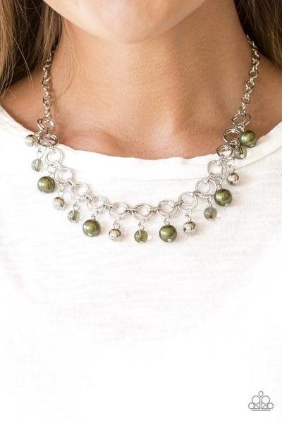 Fiercely Fancy Green Necklace