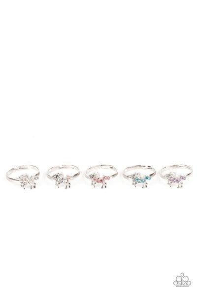 Starlet Shimmer Multi Silver Unicorn Rings - 5 Pack