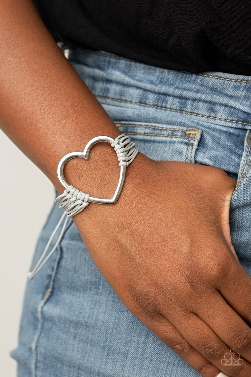 Playing with My Heartstrings Silver Bracelet