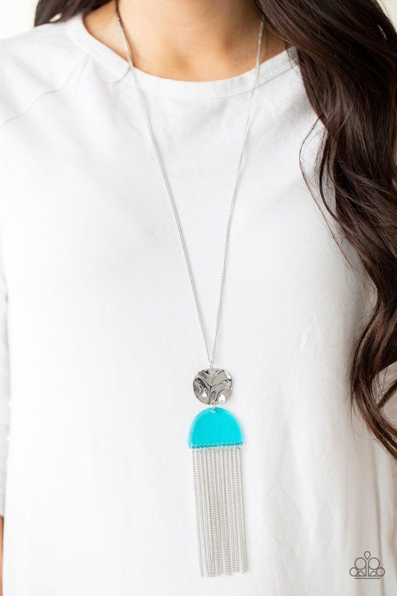 Color Me Neon Blue Necklace