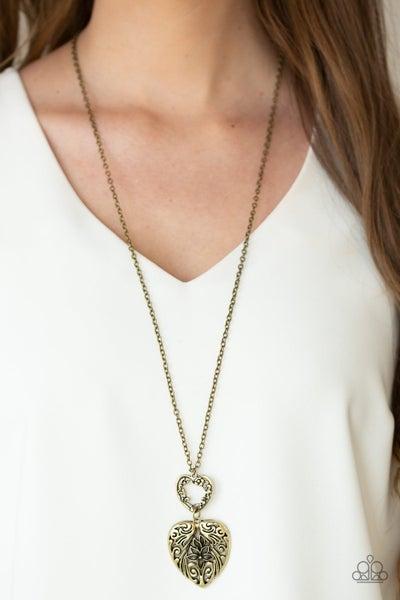 Garden Lovers Brass Necklace