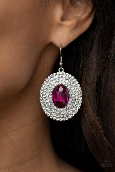Fierce Field Pink Earring