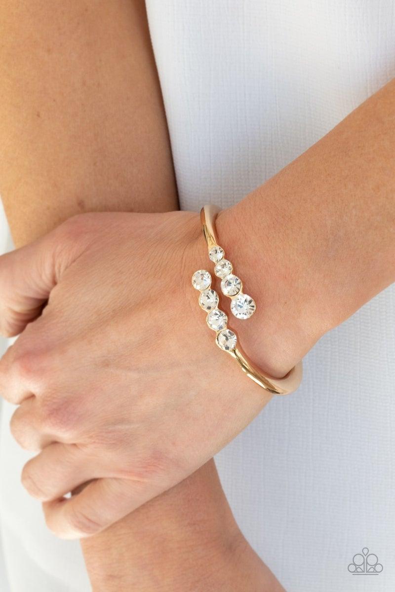 Defying Dazzle Gold Bracelet