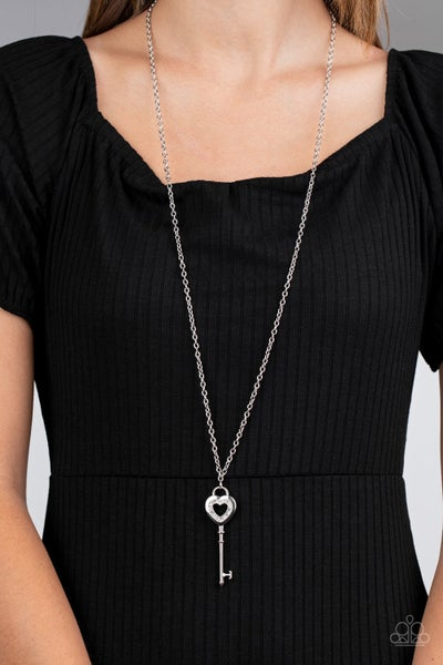 Unlock Your Heart White Necklace