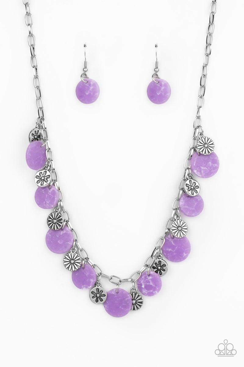 Flower Powered Purple Necklace