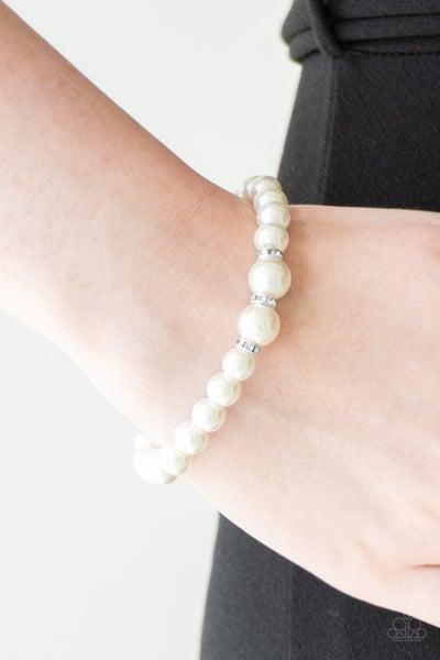 Radiantly Royal White Bracelet