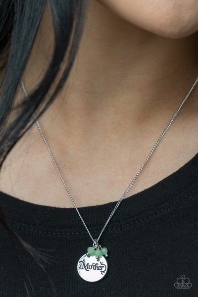 Warm My Heart Green Necklace