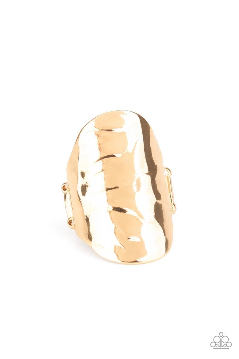 Retro Ripple Gold Ring