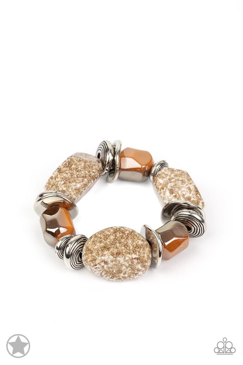 Glaze of Glory Brown Blockbuster Bracelet - Sparkle with Suzanna