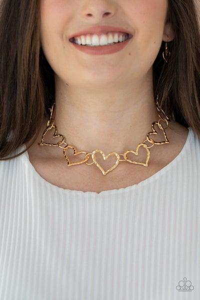 Vintagely Valentine Gold Choker