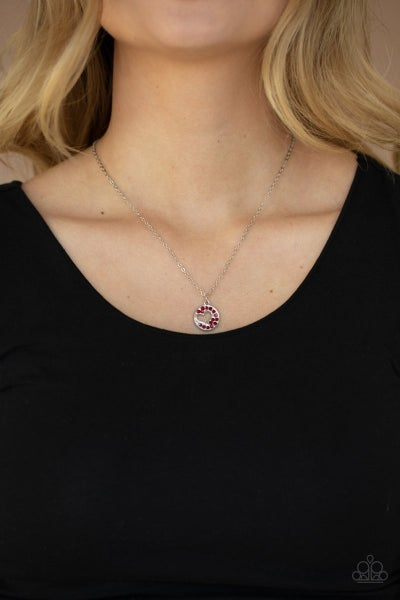 Bare Your Heart Red Necklace