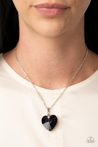 Love Hurts Purple Necklace