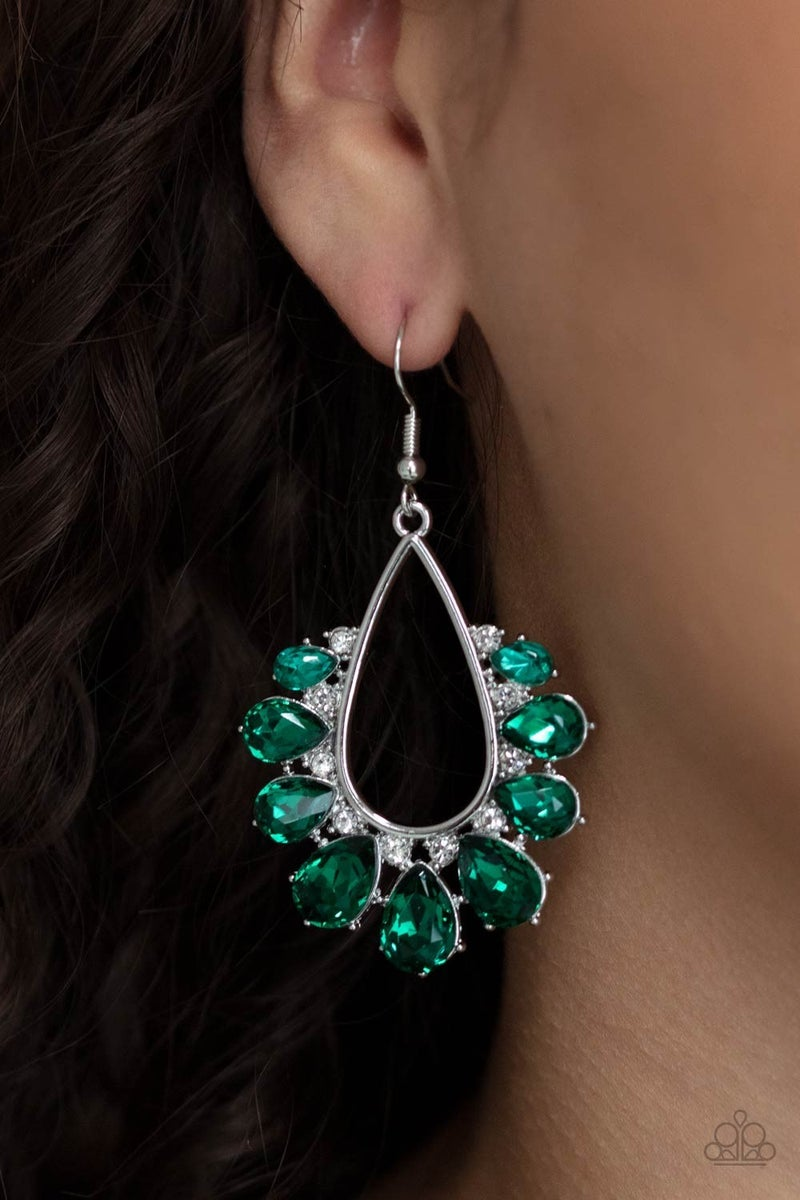 Two Can Play That Game Green Earring