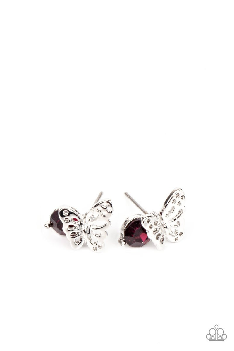 Starlet Shimmer Butterfly Rhinestone Earrings - 10 Pack