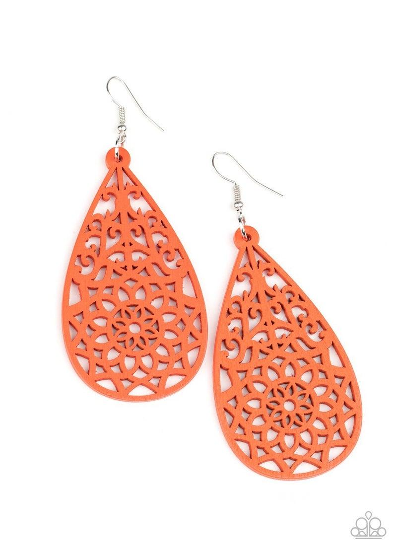 Seaside Sunsets Orange Earrings