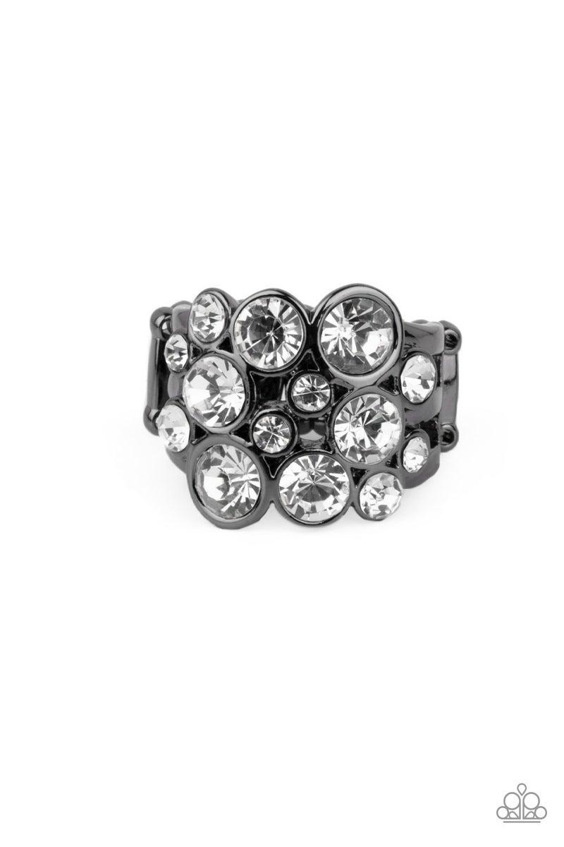 Bubbling Bravado Gun Metal Ring
