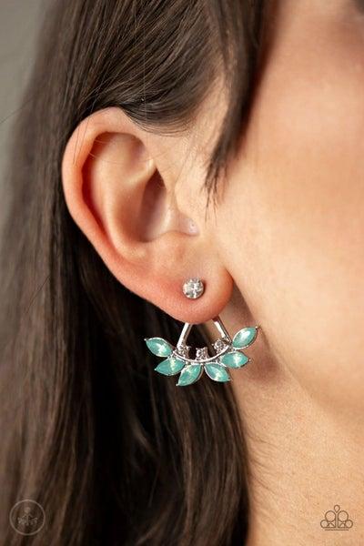 Forest Formal Green Post Earring