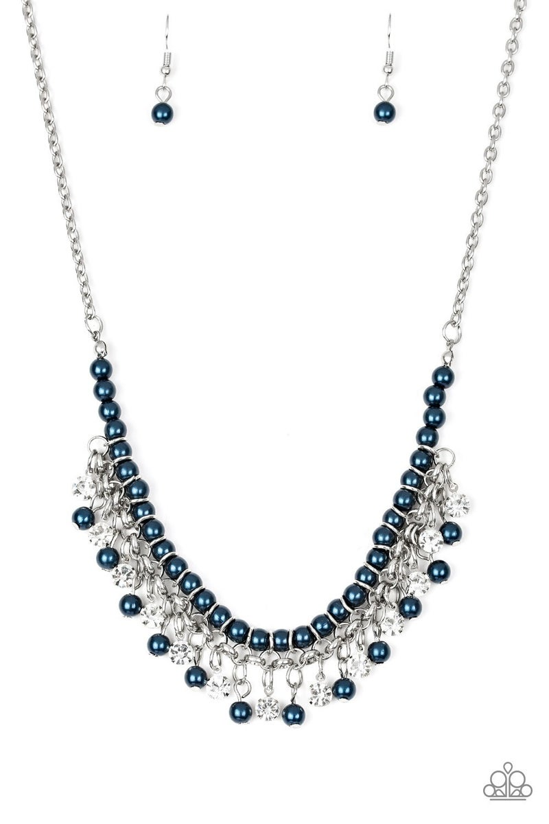 A Touch of Classy Blue Necklace - Sparkle with Suzanna