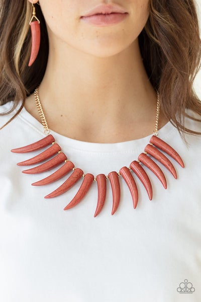 Tusk Tundra Brown Necklace