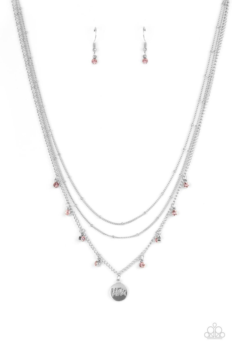 Ode To Mom Pink Necklace