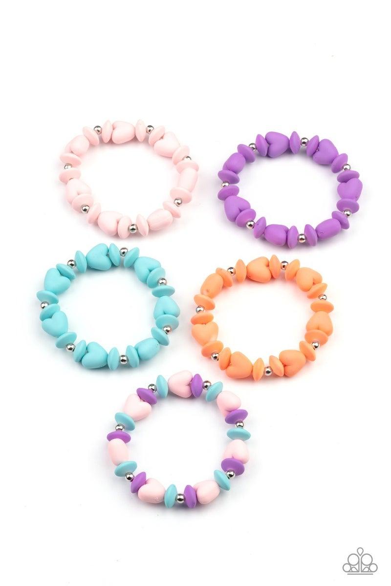 Starlet Shimmer Heart Shaped bead bracelets - 5 pack
