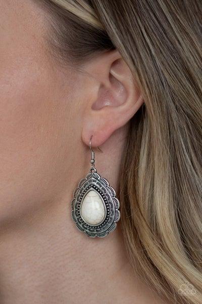 Mountain Mover White Earring