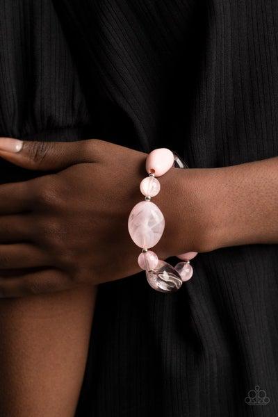 I Need a STAYCATION  Pink  Bracelet