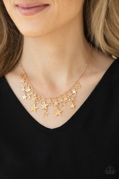 Stellar Stardom Gold Necklace - Sparkle with Suzanna