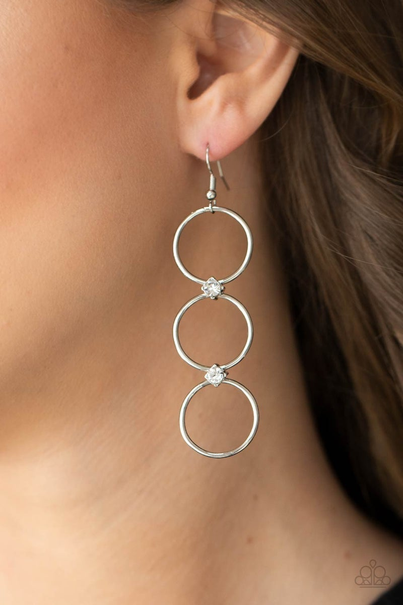 Refined Society White Earring