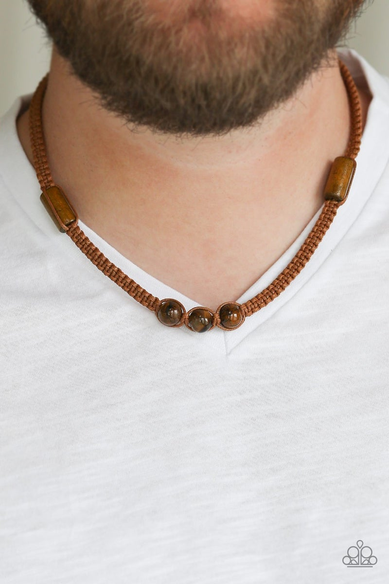 Honolulu Hustler  Brown Men 's Urban Necklace