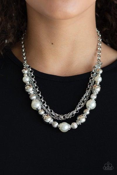 5th Avenue Romance White Necklace