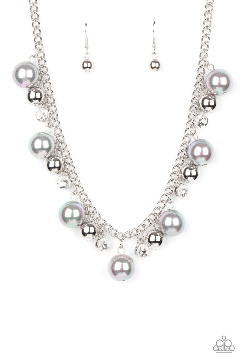 Galactic Gala Iridescent Pearl Necklace