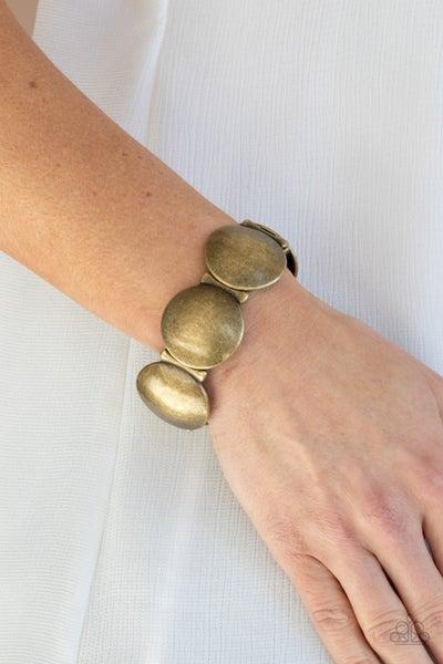 Going, Going, GONG! - Brass Bracelet
