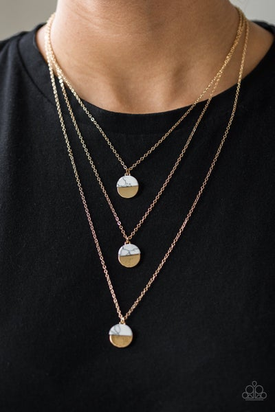 Rural Reconstruction Gold Necklace