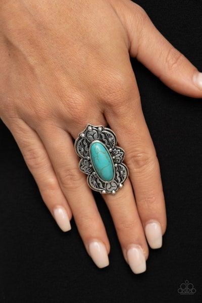 Lotus Oasis Blue Ring