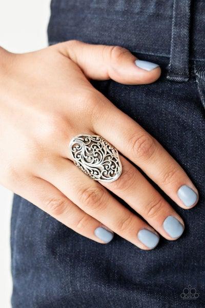 Vine Vibe Silver Ring