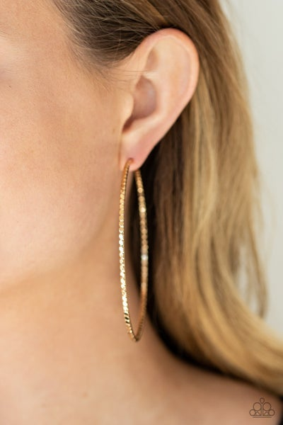 Pump up the Volume Gold Earring