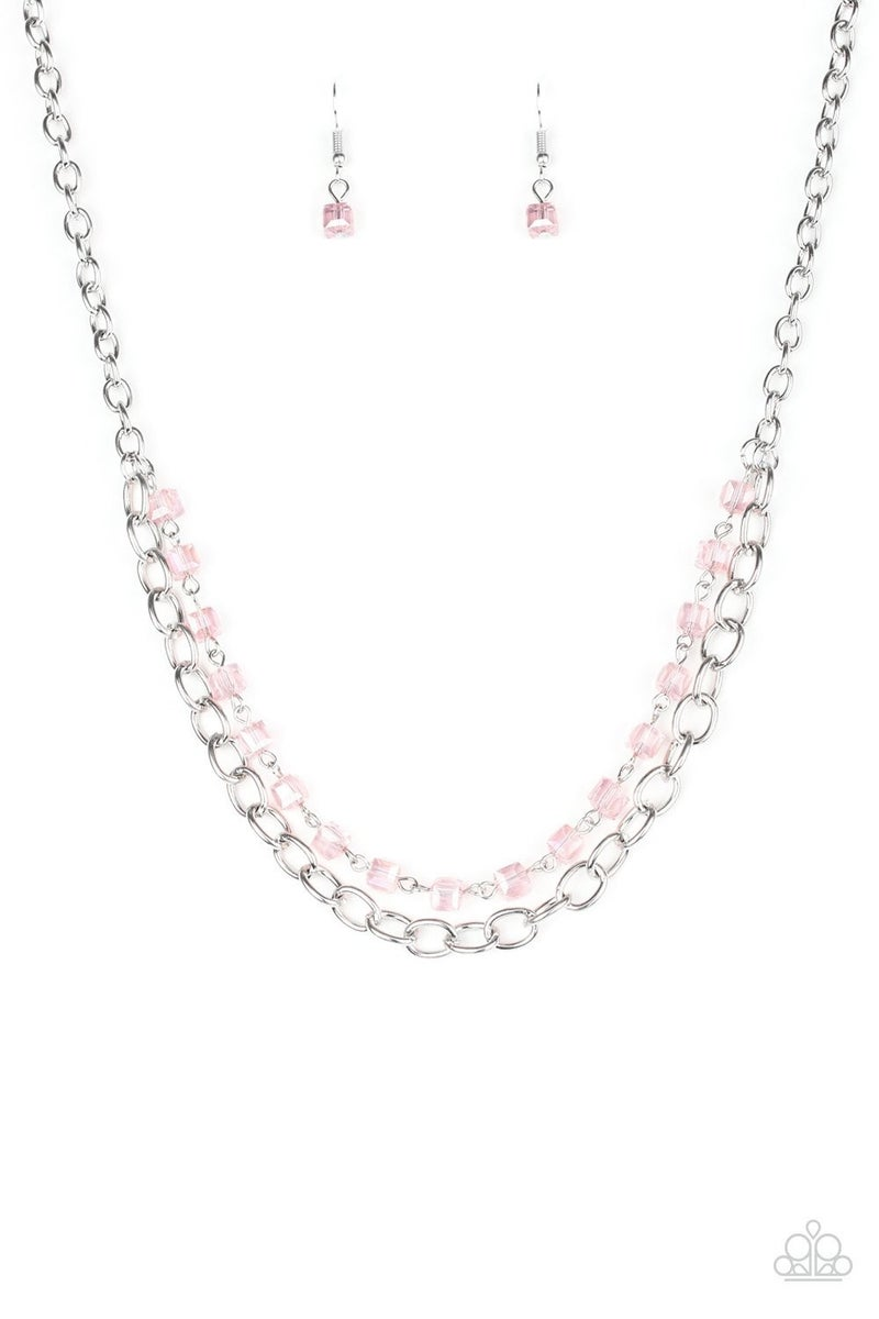 Block Party Princess Pink Necklace