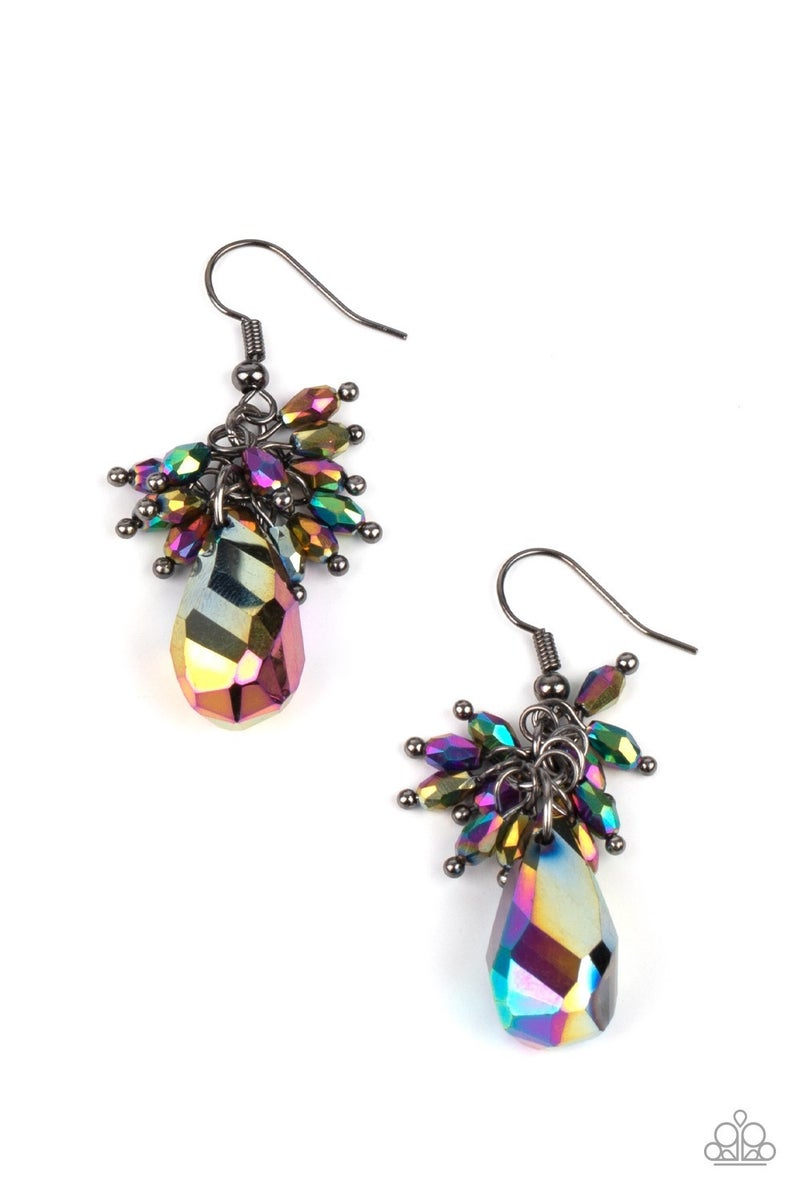 Well Versed in Sparkle Oil Spill Earrings - PREORDER