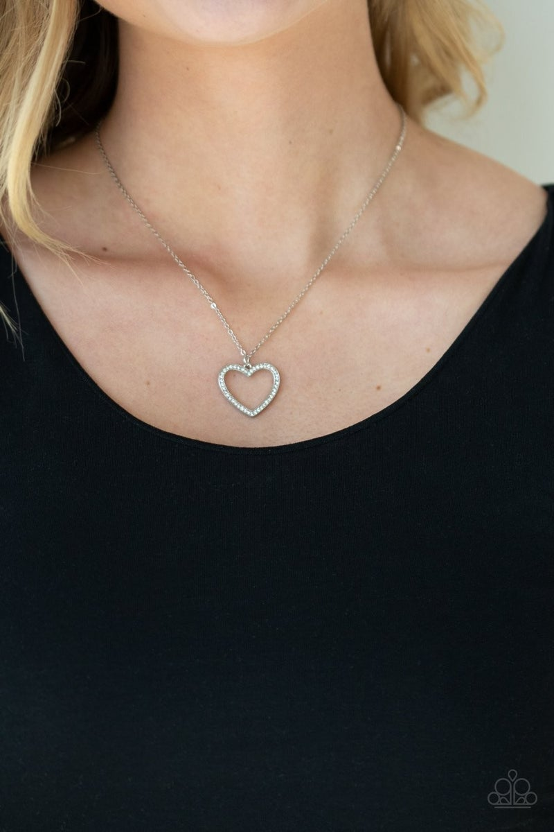 Glow By Heart White Necklace