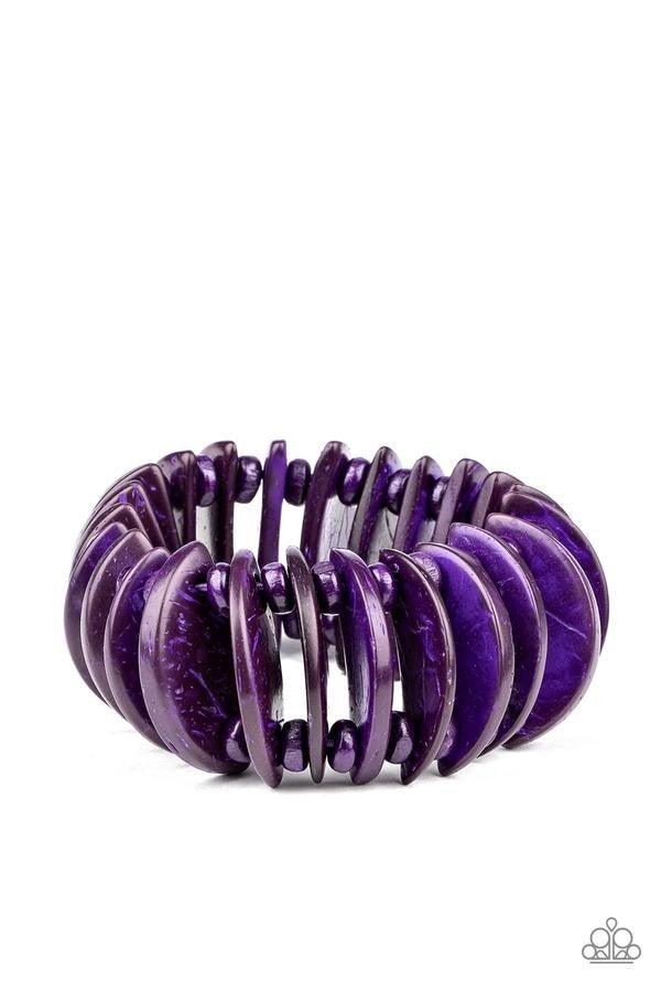 Tropical Tiki Bar Purple Bracelet