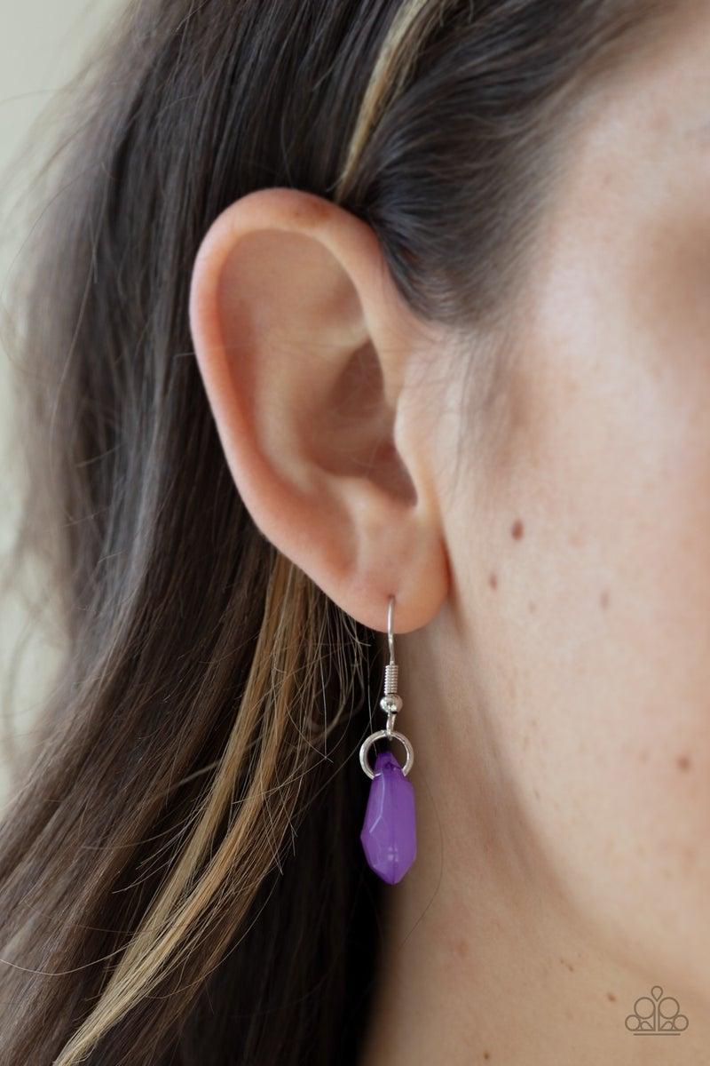 Rio Rainfall Purple Necklace