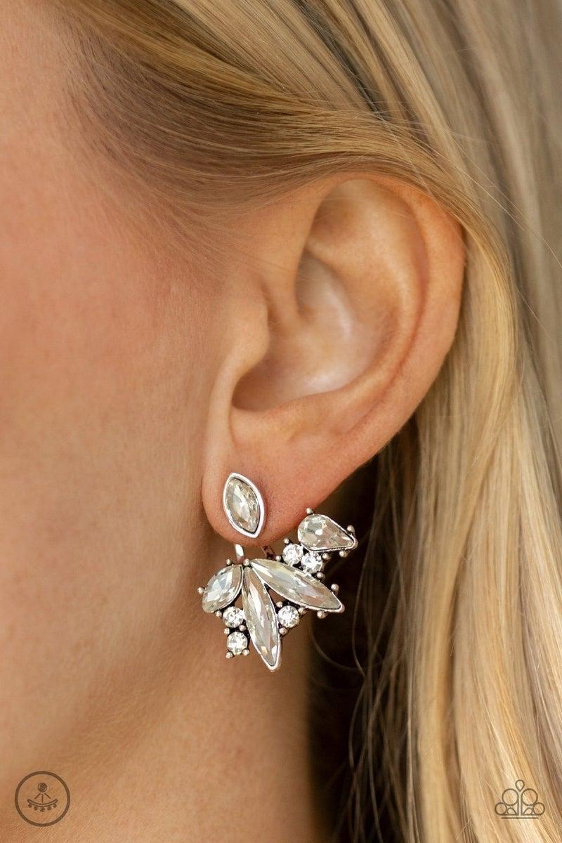 Deco Dynamite White Post Earring