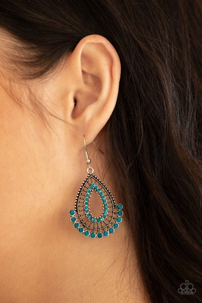 Castle Collection Blue Earring
