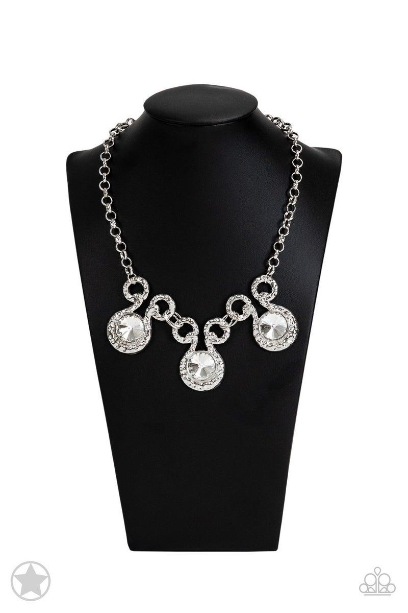Hypnotized White Necklace - Sparkle with Suzann